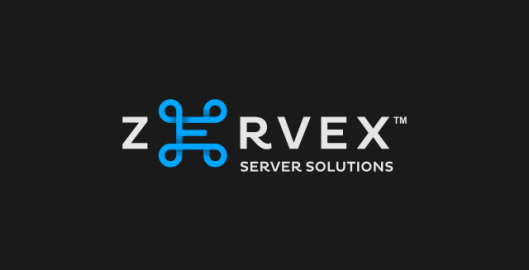 Zervex, server solutions management company logo design by Utopia branding agency