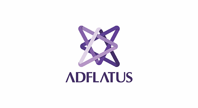 Adflatus, interior design studio company, logo design by UTOPIA branding agency