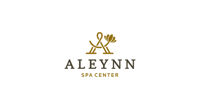 Aleynn, spa center, beauty center, logo design by Utopia branding agency