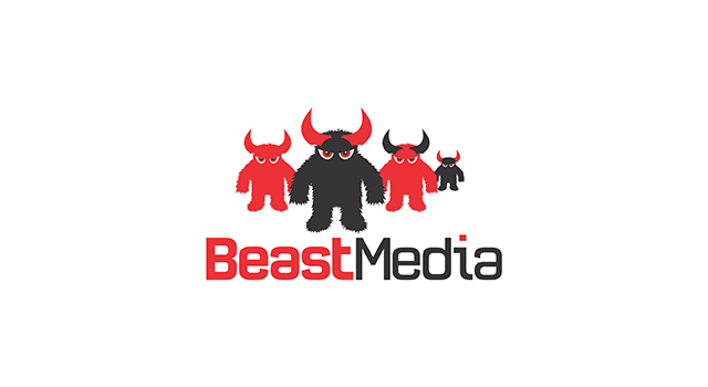 Beast media full service online advertising agency logo design by UTOPIA branding agency
