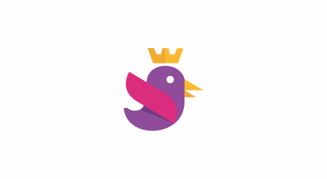 Bird online marketing company logo design symbol by Utopia branding agency