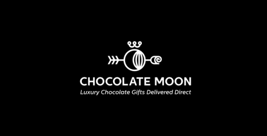 Chocolate Moon, luxury chocolate gifts delivered direct, logo design by Utopia branding agency
