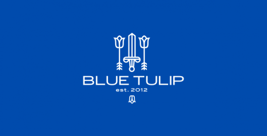 Blue Tulip, men fashion clothing line logo design by Utopia branding agency