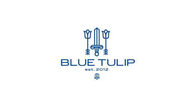 blue tulip logo design. Black Bedroom Furniture Sets. Home Design Ideas