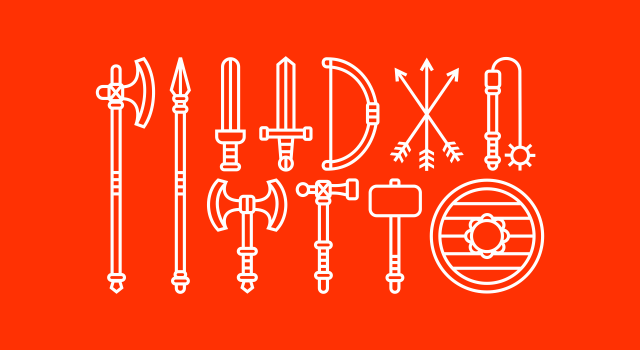 Free vector download medieval weapons icons design by Utopia