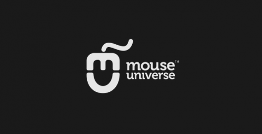 Mouse universe, blog about computer technology news, IT logo design by Utopia branding agency