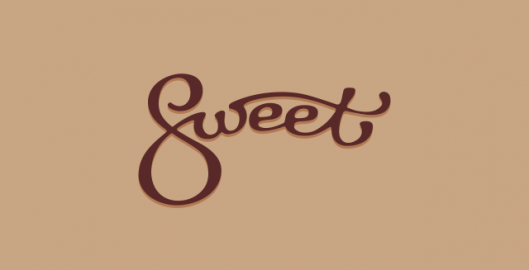 Sweet, calligraphy, word mark, logotype design by Utopia branding agency