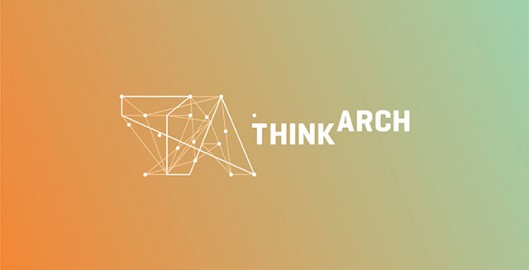 Think Arch, international architecture, urbanism, landscape, garden architecture contest, competition logo design by Utopia branding agency