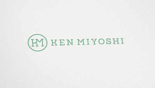 Ken Miyoshi dermatologist doctor logo design