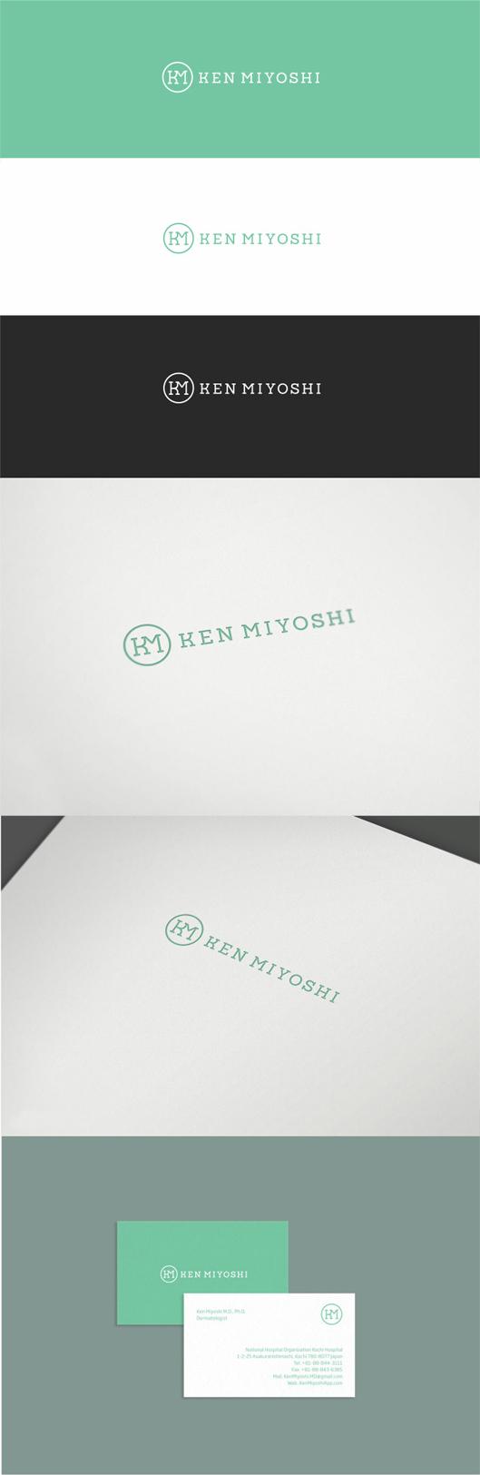 Ken Miyoshi, dermatology, dermatologist, medic, medical, doctor, medicine, logo, design, logo design, identity, branding