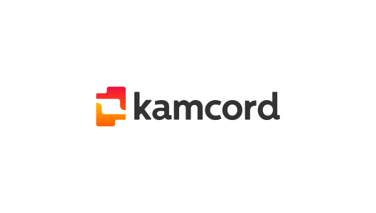 Kamcord, logo design for recording technology, application for mobile game developers 