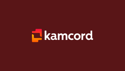 Kamcord, logo design for recording application technology for mobile game developers