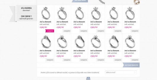 Diamonds, rings, earrings, jewelry, seller, manufacturer, web website layout design by Utopia branding agency
