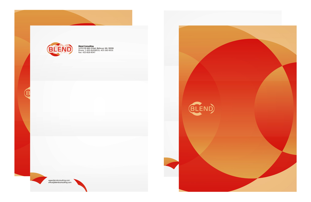 blend consulting company letterhead design