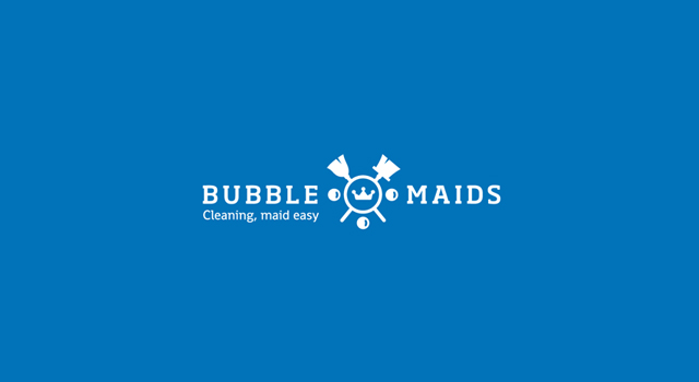 Bubbly Design Co: Bubble Maids Logo Design