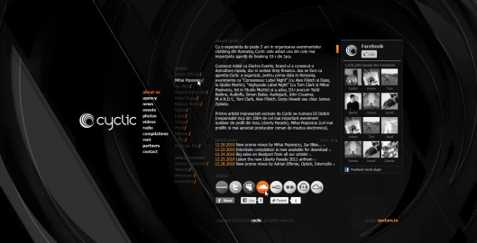 cyclic dj booking agency records label - homepage - web website design by Utopia branding agency