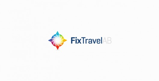 FIx Travel corporate business travel agency Scandinavia, Sweden, Denmark, Norway, logo design by Utopia branding agency
