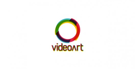 VideoArt, experimental logo design concept work for a video art project, logo design for sale, logo design by Utopia branding agency