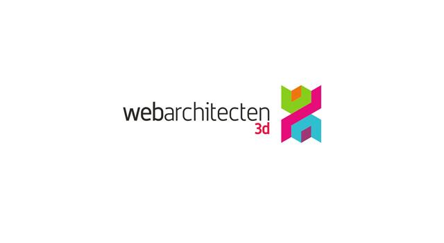 Web Architecten logo design sub-branding: 3D design - logo design by Utopia branding agency