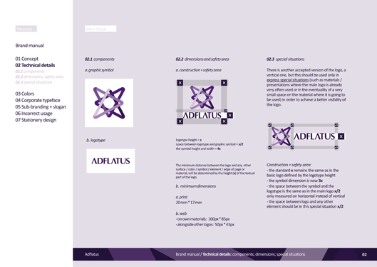 adflatus interior design logo design identity design branding manual 02 components, safety area