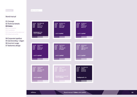 adflatus interior design logo design identity design branding manual 03 color scheme