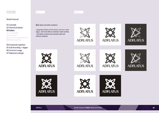 adflatus interior design logo design identity design branding manual 06 black and white