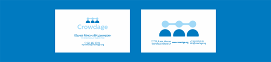Crowdage™ Identity design for crowdsourcing biotechnology medical project