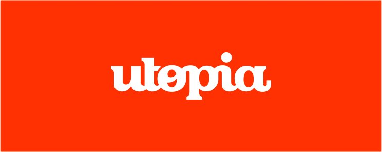 UTOPIA branding agency logo design color scheme