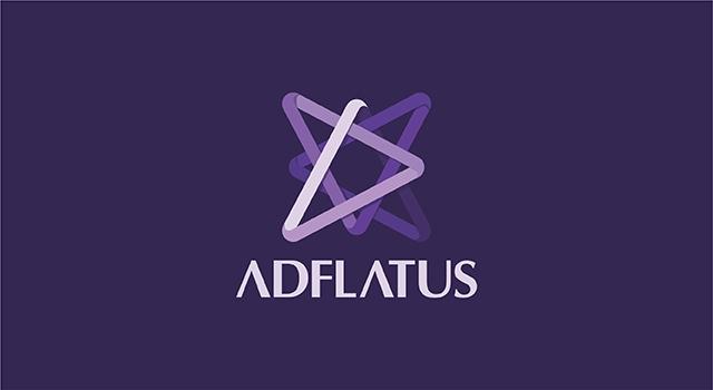 Adflatus, interior design studio company, logo design by UTOPIA branding agency