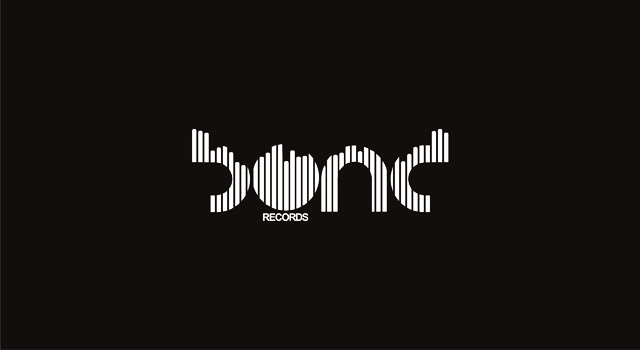 Bond records electronic music records label logo design, stationery design by Utopia branding agency