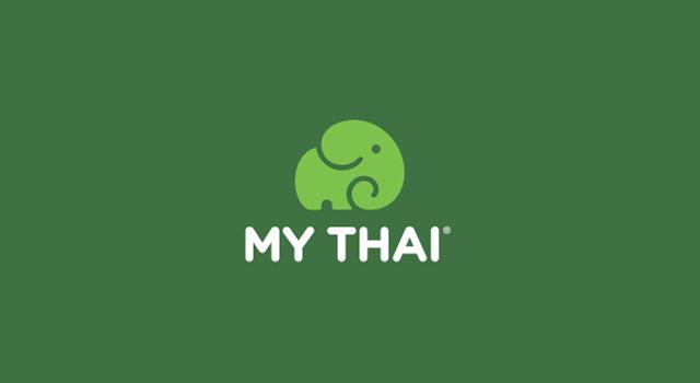 My Thai, fast food restaurant chain logo design by Utopia branding agency
