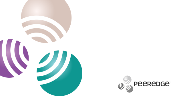 Peeredge, telecommunication routing platform logo design by Utopia branding agency