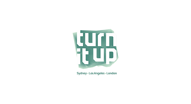 Turn it up, music management company, records label, music publisher, logo design by Utopia branding agency