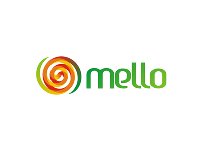Mello juice logo design, pattern, sub branding design by Alex Tass