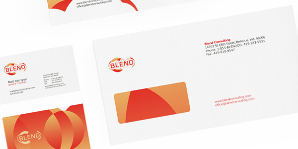 blend consulting company stationery design details 1