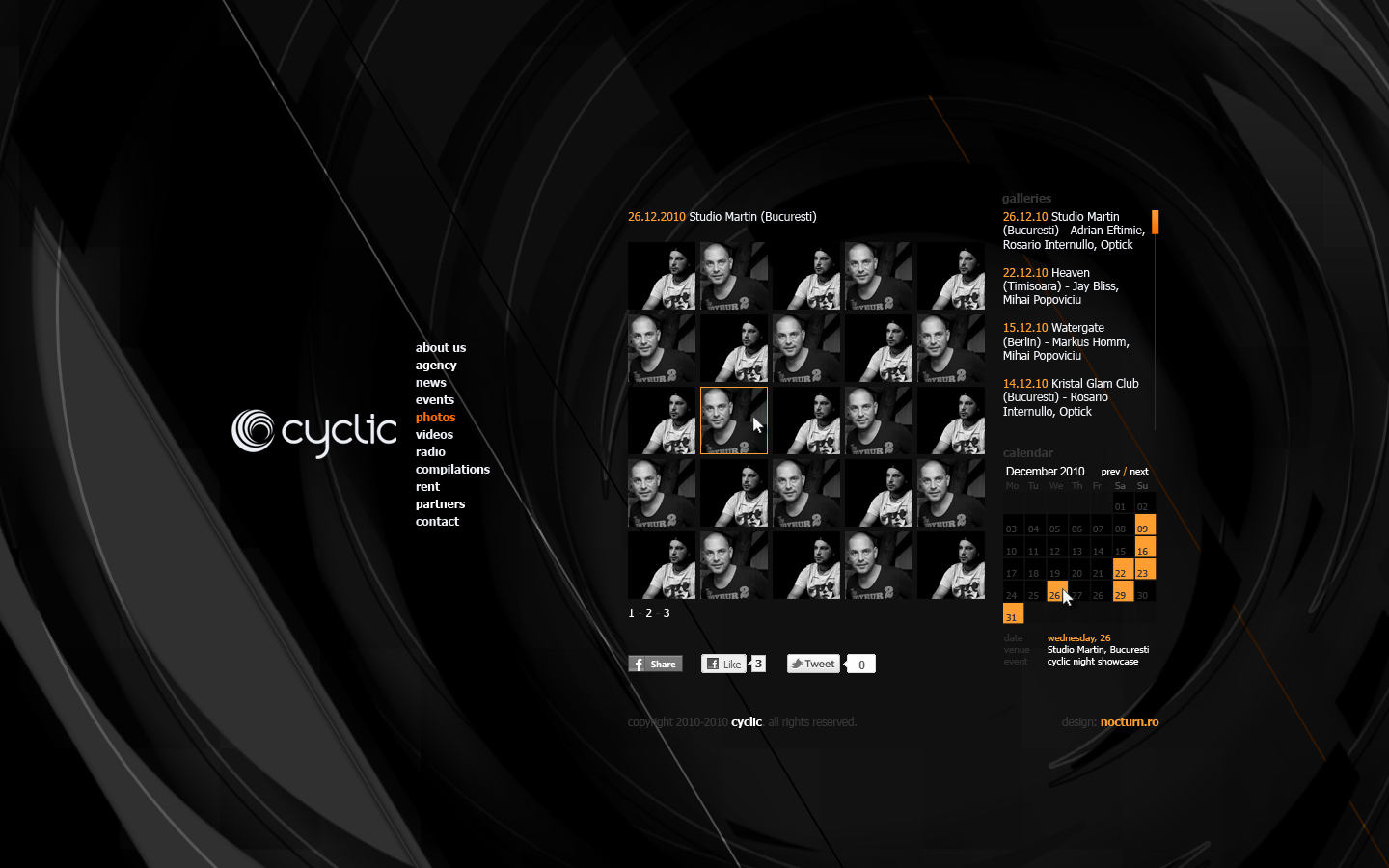 cyclic dj booking agency records label - photo gallery - web website design by Utopia branding agency