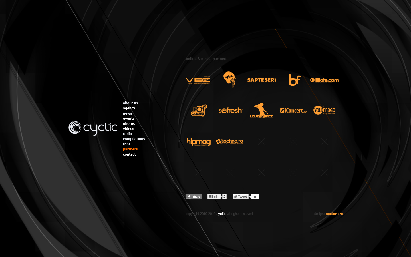 cyclic dj booking agency records label - partners - web website design by Utopia branding agency