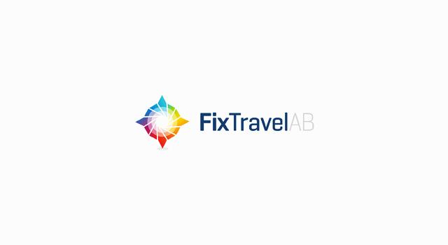 FIx Travel corporate business travel agency Scandinavia, Sweden, Denmark, Norway, logo design by Utopia branding agency