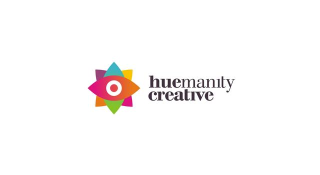 huemanity creative, design studio, advertising agency, colorful, logo design by Utopia branding agency