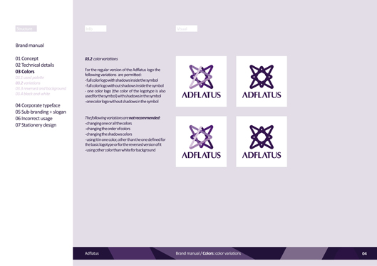 adflatus interior design logo design identity design branding manual 04 color variations