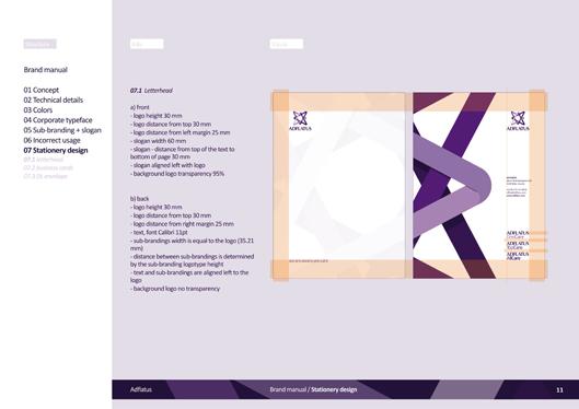 adflatus interior design logo design identity design branding manual 11 stationery design letterhead