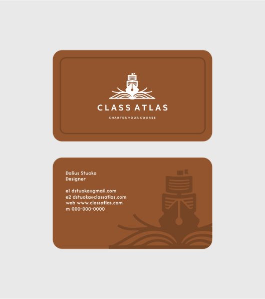 Class Atlas™ Branding Project Logo design and Identity design for an Educational Resource